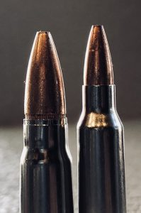 The typical AK47 Bullet is significantly heavier and more powerful at close range than a correlating AR15 Bullet.
