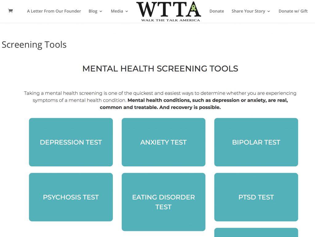 WTTA mental health screening