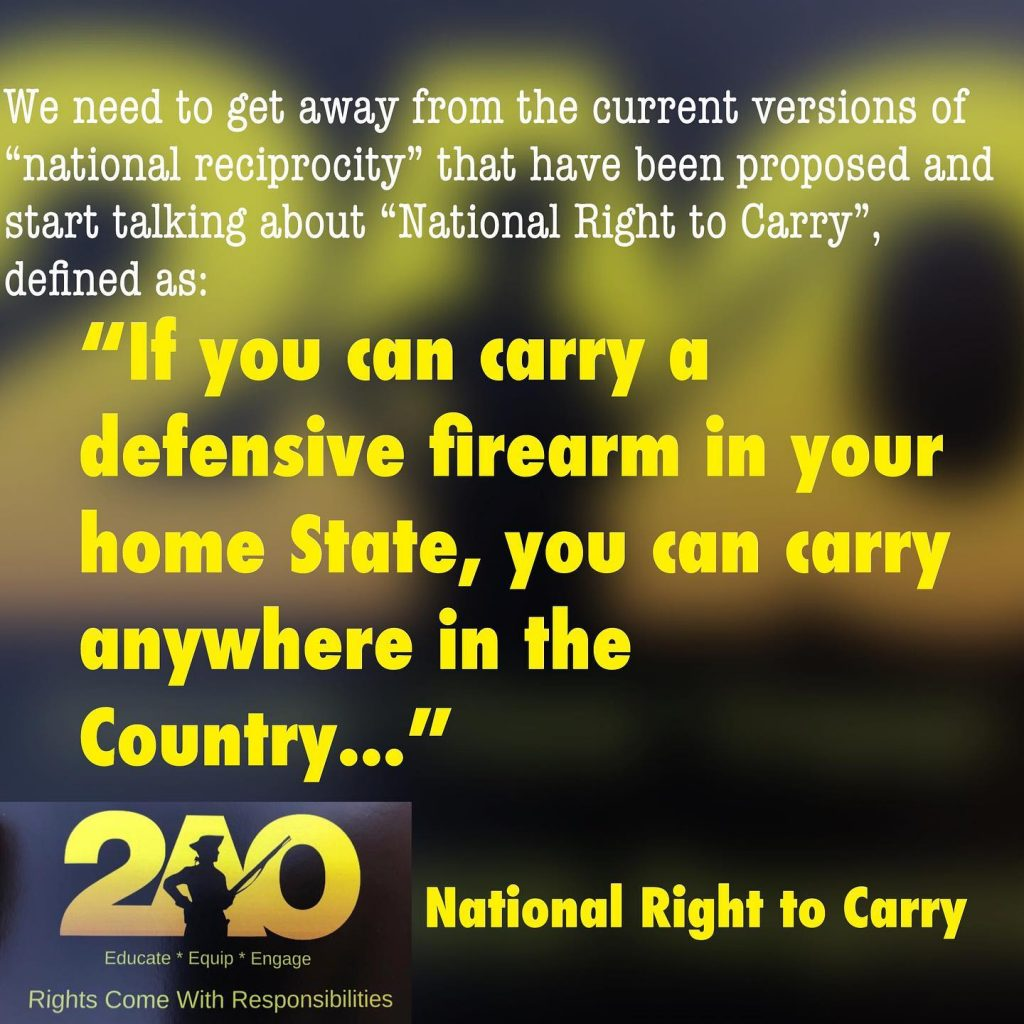 Right to carry v National Reciprocity